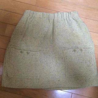 apc イエロー ツイード ミニスカート