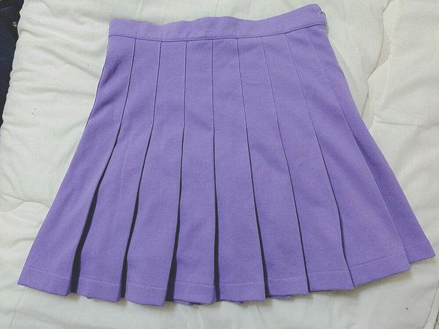 PECOCLUB ポロシャツ生地プリーツスカート 紫(BUBBLES(バブルス) ) - フリマアプリ&サイトShoppies[ショッピーズ]