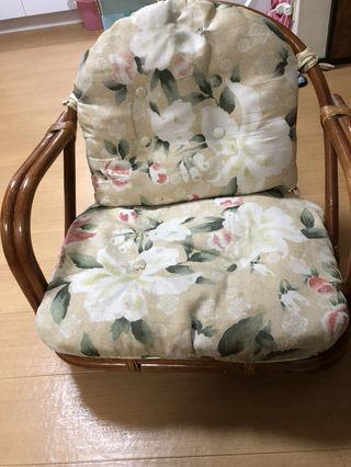 藤回転座椅子