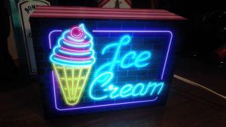 ★アメリカン雑貨★LED電光看板ネオン【アイスクリーム】