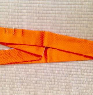 未使用品 かさね衿 橙色