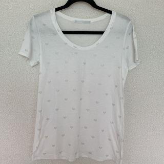 Heather ハート柄白Tシャツ