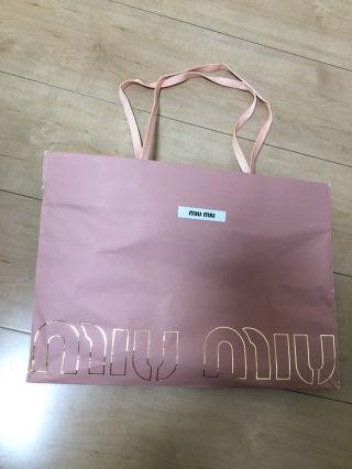 ミュウミュウ MIUMIU ショップ袋