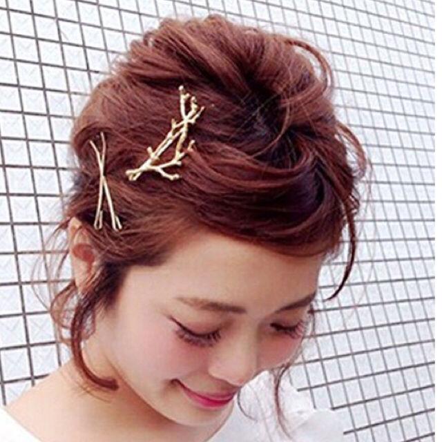 翌日発送【新品】サンゴ 小枝 ゴールドヘアピン