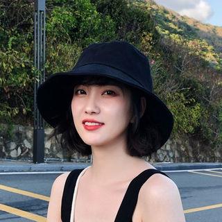 ブラック ハット 帽子 UVカット つば広 小顔効果