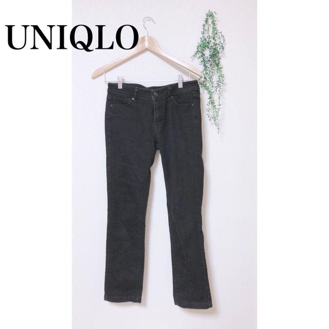 UNIQLO デニムパンツ 黒 ブラック スキニー(UNIQLO(ユニクロ) ) - フリマアプリ&サイトShoppies[ショッピーズ]