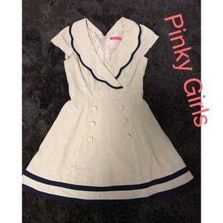 Pinky Girls セーラー襟ワンピース