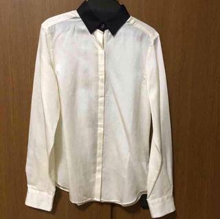 新品INEDバイカラーシャツ