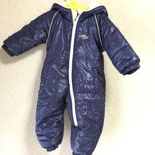 サイズ80真冬の外遊びも安心暖かジャンプスーツ