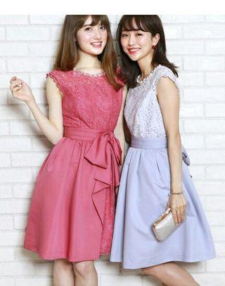 新品リランドチュール3WAYドレス濃ピンク