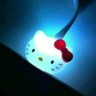 キティちゃんiPhone充電LEDケーブル