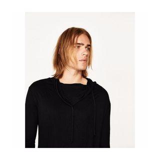 送料込★ 新品 ZARA ザラ 半袖ブラック Tシャツ S
