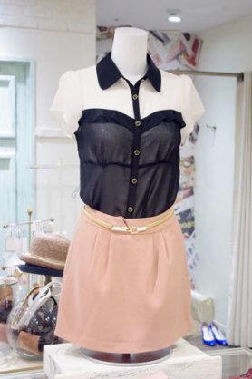 dazzlin タイトスカート風ショートパンツ