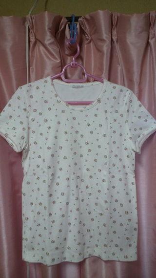 ドゥファミリー M 花柄半袖Tシャツ