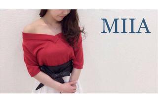 MIIA【美品】2weyオフショルプルオーバーRed