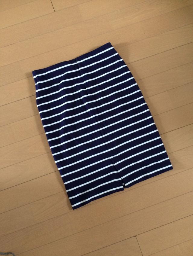 【新品】重宝ボーダースカート