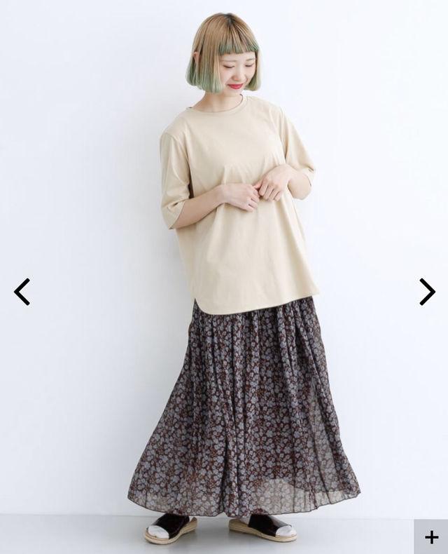 merlot完売花柄スカート新品オールシーズン