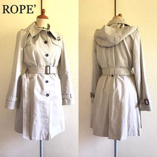 美品ROPE2wayフード付き美ライントレンチコート