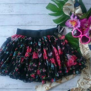 新品!タグ付き!xoxokisskiss花柄シフォンスカート