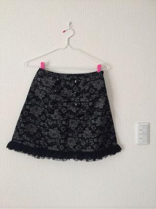 BPN/ブラックピースナウ総レース花柄スカート美品