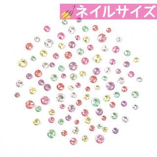ネイル【スワロフスキー】キャンディーフラワーmix 100粒