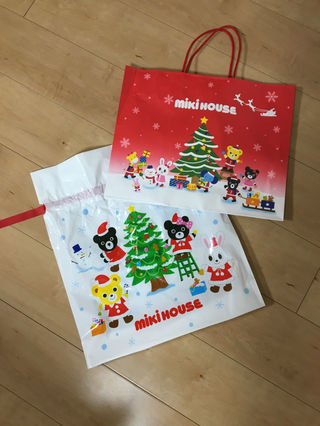 ミキハウス ショップ袋 クリスマス