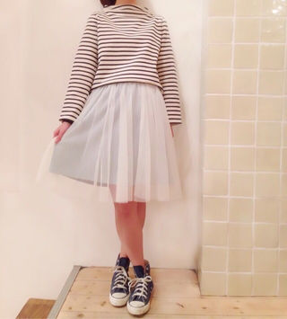 フラワー*チュールスカート