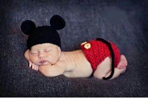 可愛い 赤ちゃん ベビー 衣装 ミッキーマウス 風 着ぐるみ