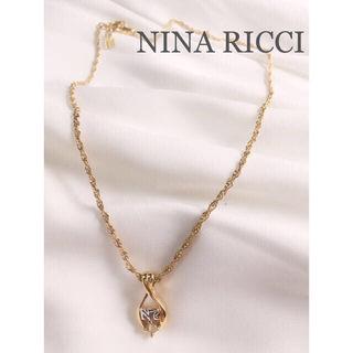 NINA RICCI ロゴ ビジューネックレス
