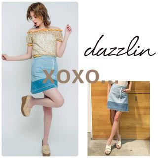 新品 dazzlin パッチワークデニムミニスカート