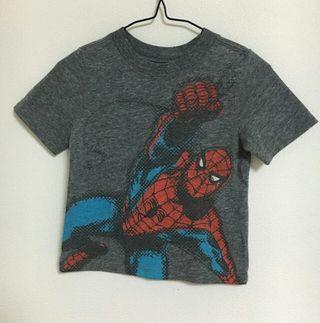 【90】オールドネイビースパイダーマン半袖Tシャツ