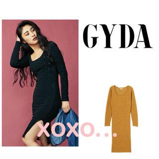 新品 GYDA リブスリットワンピース