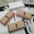 レディース 可愛い美品 2つ折長財布 3色可選