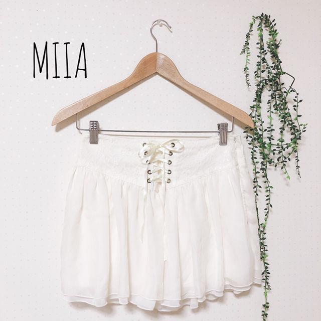 MIIA レースアップスカート(MiiA(ミーア) ) - フリマアプリ&サイトShoppies[ショッピーズ]