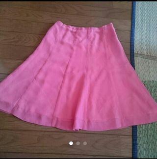 フレアースカート ピンク