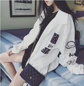 レディース ジャケット MA-1 韓国 ホワイト
