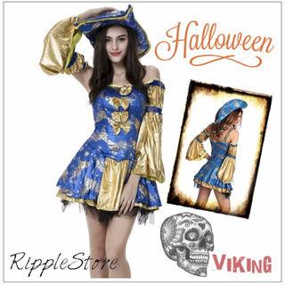 ハロウィン コスプレ 海賊 パイレーツ 衣装 5点セット