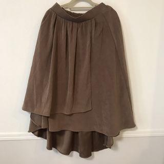 1880/ onewaスウェードラップスカート