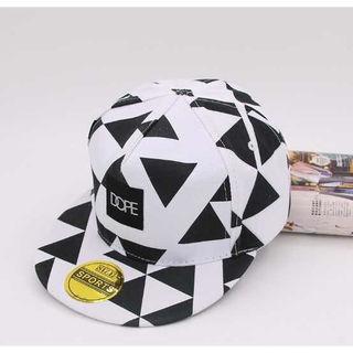 □韓流HIPHOP/ヒップホップ 幾何学模様キャップ 帽子□