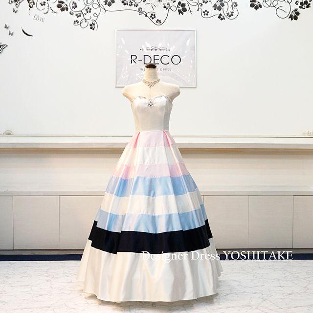 ウエディングドレス(Aラインパニエ無料) パステル