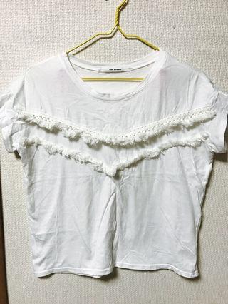 【RAY CASSIN】フリンジTシャツ
