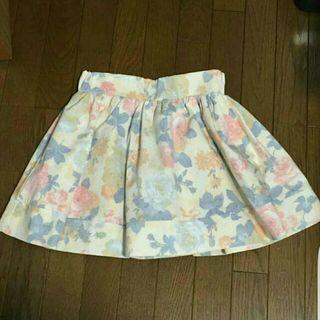 新品ROJITA後ろファスナー花柄ミニスカート