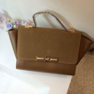 新品3wayベロア×ゴールド金具バッグ