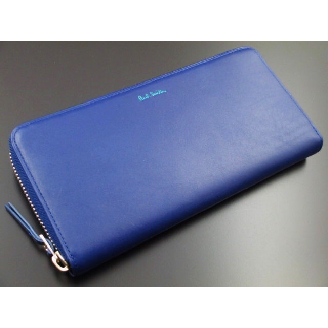 贈り物に新品箱付 ポールスミス 長財布 ブルー