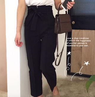 high-waist feminine  M Black