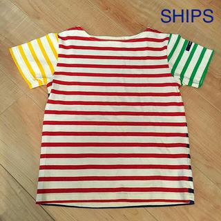 【130cm】SHIPS Tシャツ ボーダー 美品