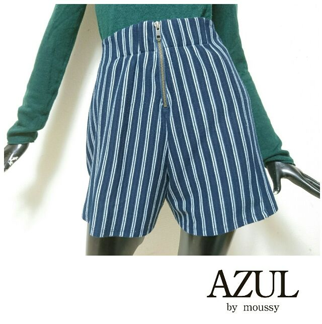 AZUL by moussy*ハイウエストショートパンツ(AZUL by moussy(アズールバイマウジー) ) - フリマアプリ&サイトShoppies[ショッピーズ]