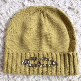 【新品未使用】niko andニコアンドビジューニット帽