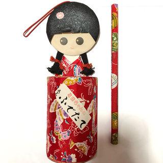 京都土産 日本人形 筆立て 鉛筆