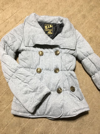 【未使用】d.i.a. グレー中綿ショートコート